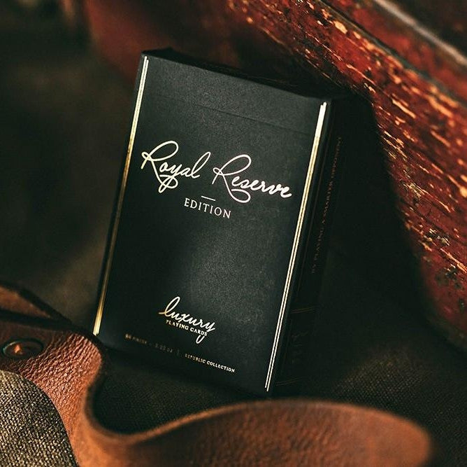 Buyworthy:Black Royal Reserve Private Edition Playing Cards Luxury Deck Jeremy Griffith