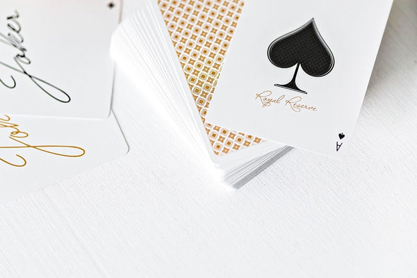 Buyworthy:Royal Reserve Playing Cards White Luxury Poker Magic Deck Jeremy Griffith ~ NEW