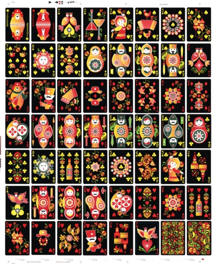 Russian Folk Art Playing Cards Limited Edition by Natalia Silva
