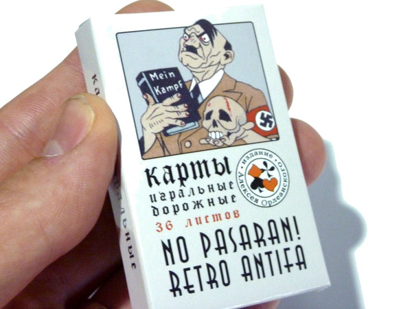 Anti-Fascist Mini Playing Cards by Vasily A. Vlasov during Siege of Leningrad