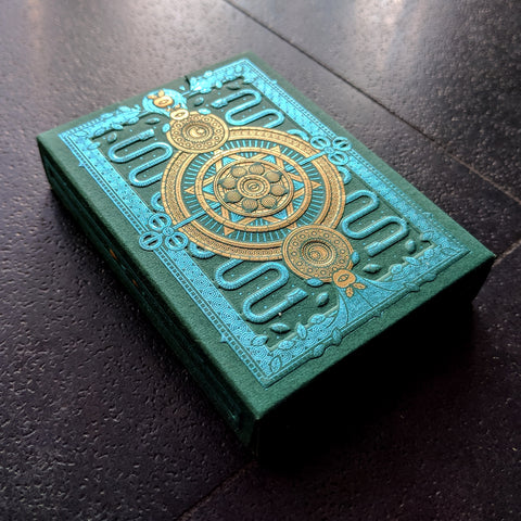 SINS Corpus Playing Cards Gold Green Embossed Tuck case