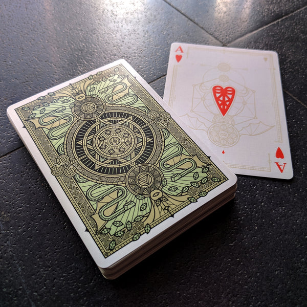 SINS Corpus Mentis Playing Cards Gold Embossed Tuck 2 Decks Set