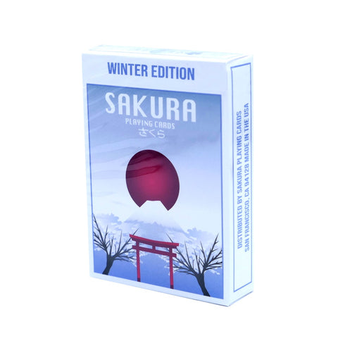 Sakura V2 Playing Cards Winter Edition Japanese cherry blossom deck