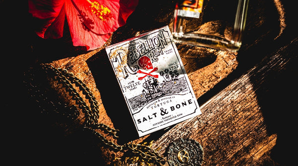 Salt & Bone Playing Cards Rebellion Pirate Rum since 1722 Ellusionist