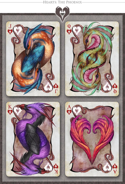Savage Majesty Playing Cards Iridescent Fantasy deck Signed by Artist