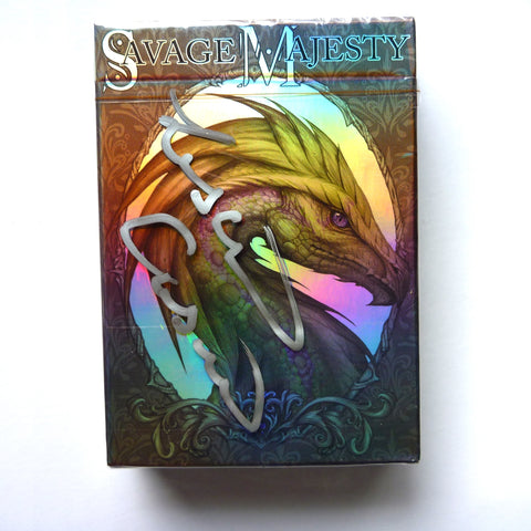Savage Majesty Playing Cards Iridescent Fantasy Hand Signed by Artist