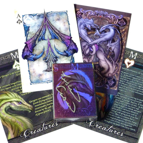 Savage Majesty Playing Cards Iridescent deck Signed Collectors Set