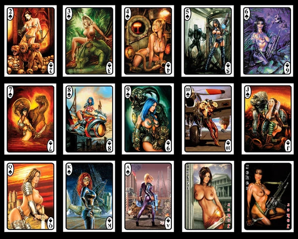 Sci-Fi Angels Playing Cards 1st Edition rare deck + Mini Booklet