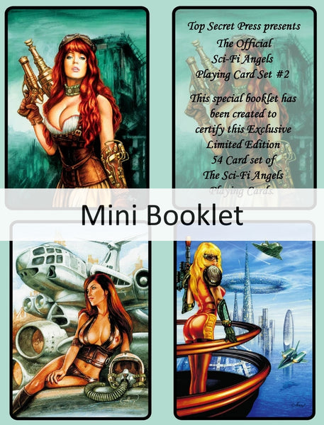 Sci-Fi Angels Playing Cards 2nd Edition +4 Character Cards +2 Decks