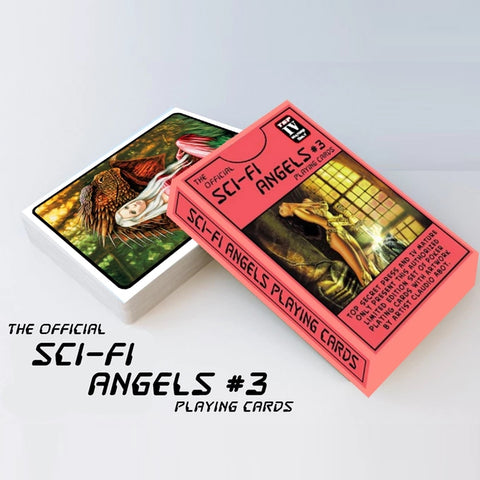 Sci-Fi Angels Playing Cards 3rd Edition by Top Secret Press + Mini Booklet