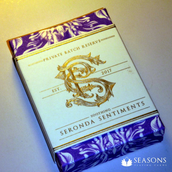 Seronda Sentiments Playing Cards Seasons Apothecary v2 Rare Purple Gilded