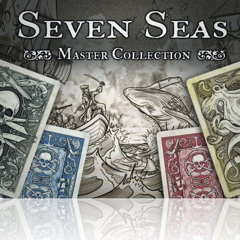 Seven Seas Playing Cards Master Collection Edition ~ 4 Decks Set