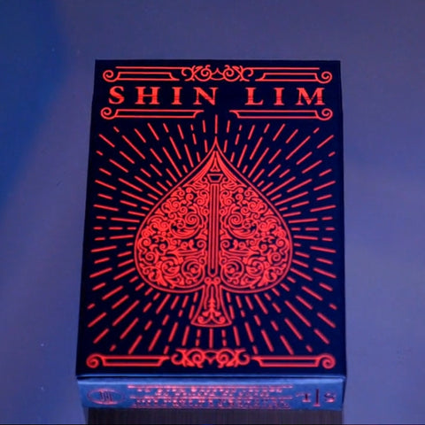 Shin Lim Playing Cards Red Foil Embossed Case Cardistry Deck