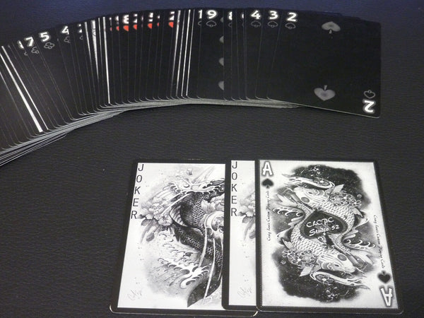 Buyworthy:Dragon Series Playing Cards Silver Edition Poker Magic Deck ~ Japanese Artwork New