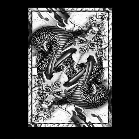 Dragon Series Playing Cards Silver Edition Japanese Artwork