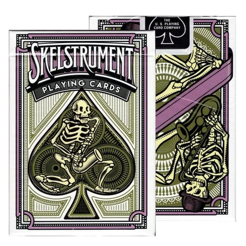 Skelstrument Playing Cards Magic Purple and Black Skeleton deck