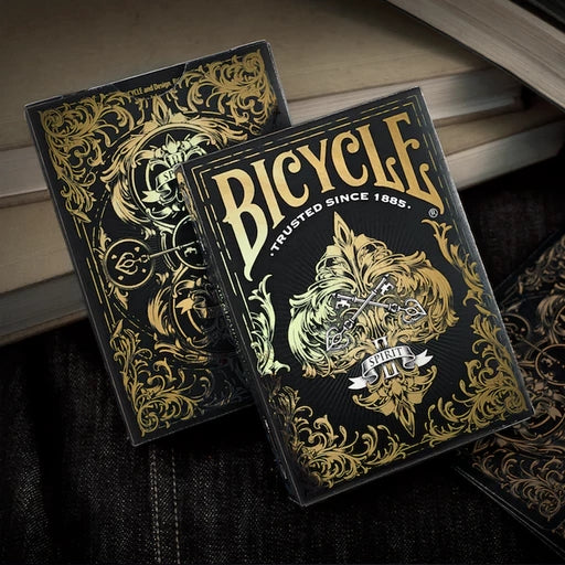Spirit II Playing Cards Black Edition Gold Embossed Tuck Case
