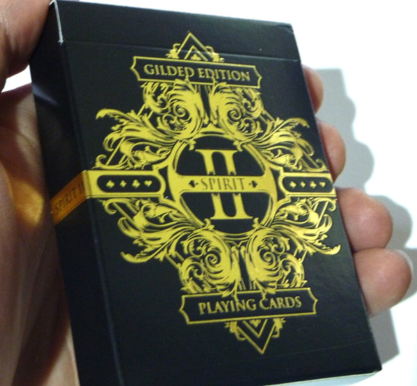 Spirit II Playing Cards Rare Gold Gilded Edition Black Deck