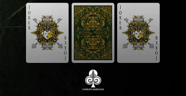 Spirit II Playing Cards Rare Gold Gilded Edition Green Deck
