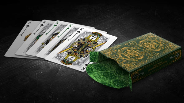 Spirit II Playing Cards Green Edition Gold Embossed ~ 3 Deck Collectors Set