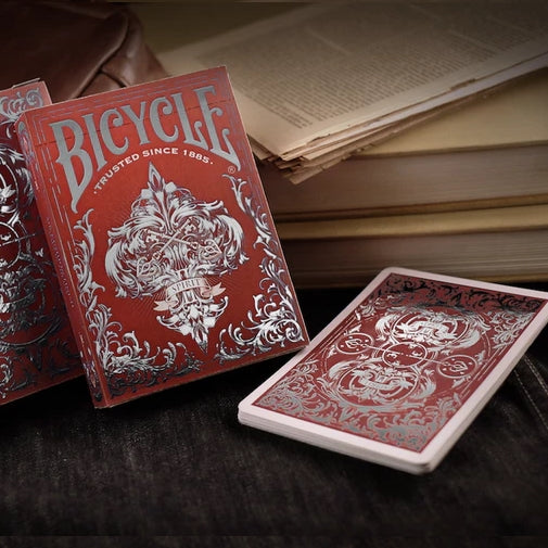 Spirit II MetalLuxe Playing Cards Red Edition deck metal on all cards
