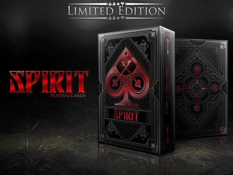 Spirit Playing Cards Black Edition Number Seal Rare Magic Deck ~ Red Metal Foil
