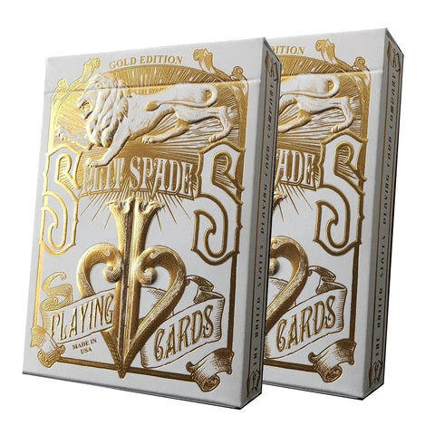 David Blaine Gold Split Spades Playing Cards Gold Foil Rare Metalluxe 2-Decks
