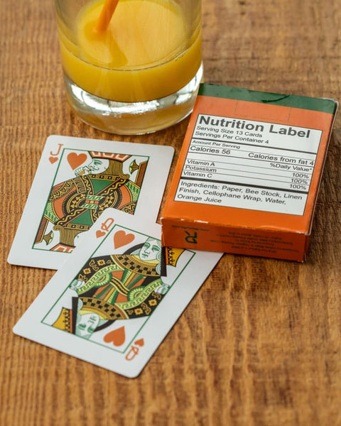 Squeezers Playing Cards 100% Orange Juice 1st Edition by Riffleshuffle