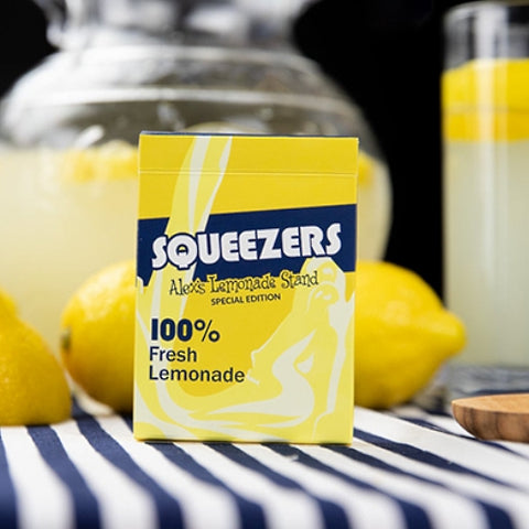 Squeezers Playing Cards 100% Lemon Juice V2 Edition by Riffleshuffle