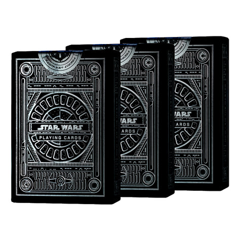 Star Wars The Dark Side Playing Cards Silver Special Edition 3-Deck set (Pre Order)