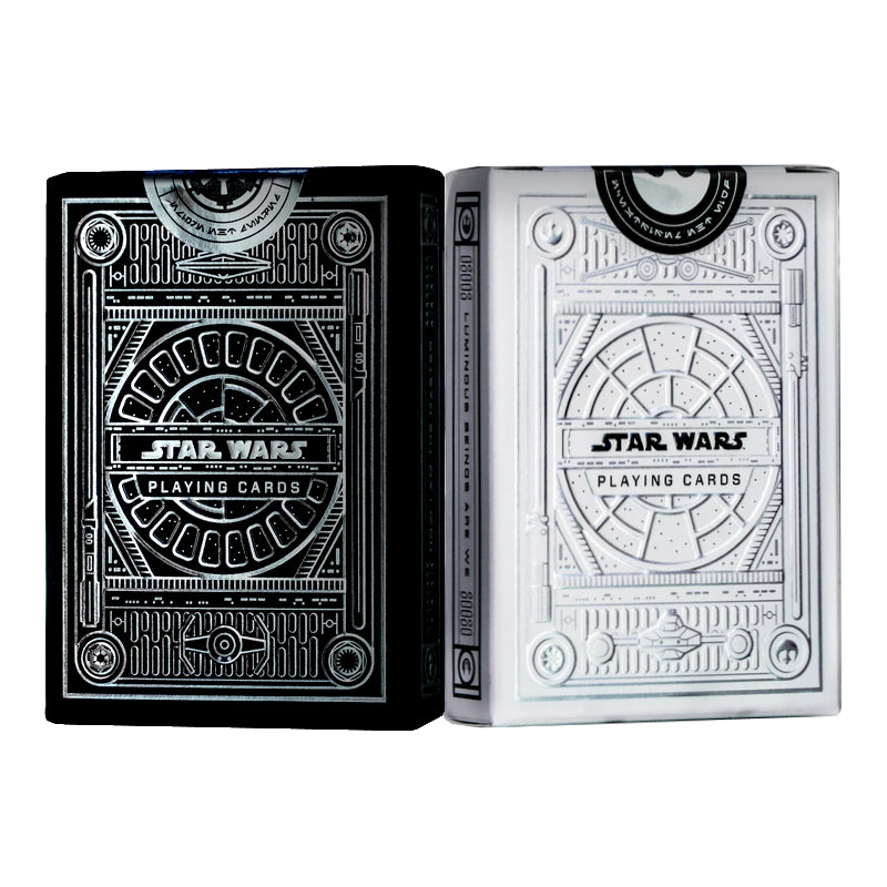 Star Wars Playing Cards Silver Special Edition Light & Dark 2-Deck Set