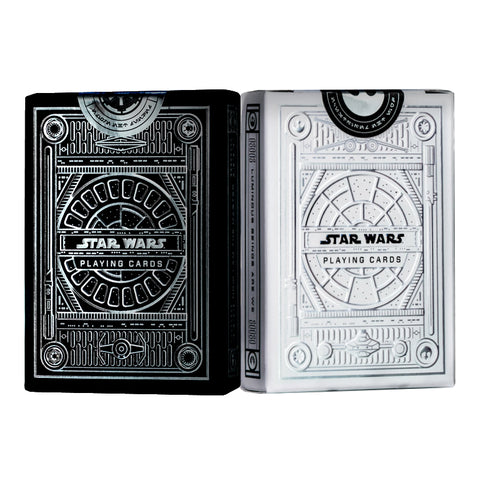 Star Wars Playing Cards Silver Special Edition Light & Dark 2-Deck Set (Pre Order)