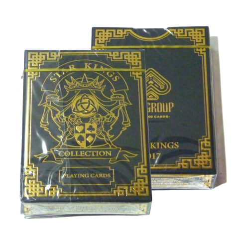 Star Kings Playing Cards Black Edition Deck Metallic Inks