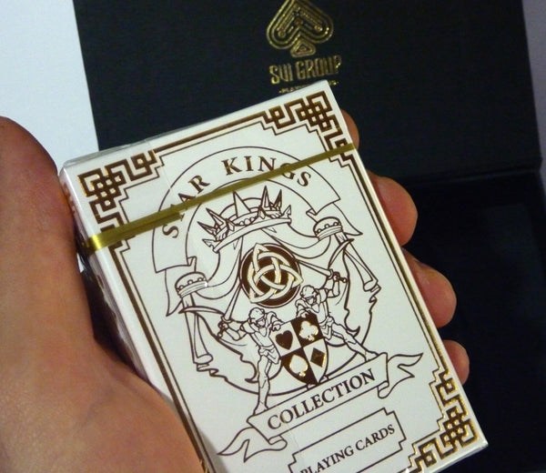 Star Kings Playing Cards Black and White Editions Rare Collectors 2-Deck Set