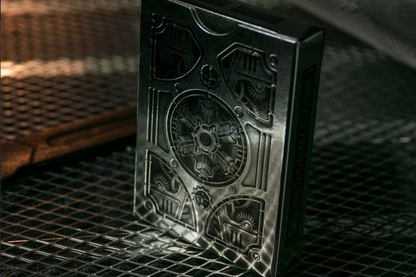 Steampunk Silver Playing Cards Embossed Tuck Deck Theory 11