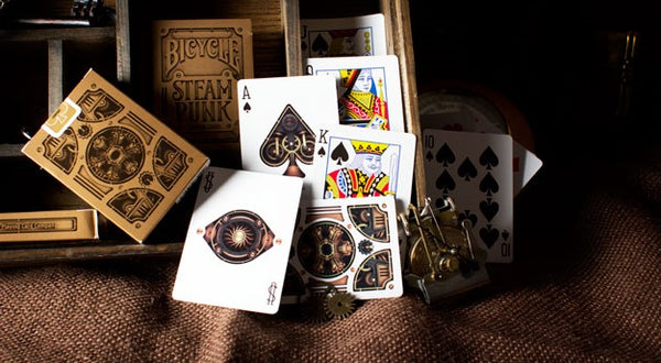 Steampunk Bronze Playing Cards Poker Deck Original Bicycle