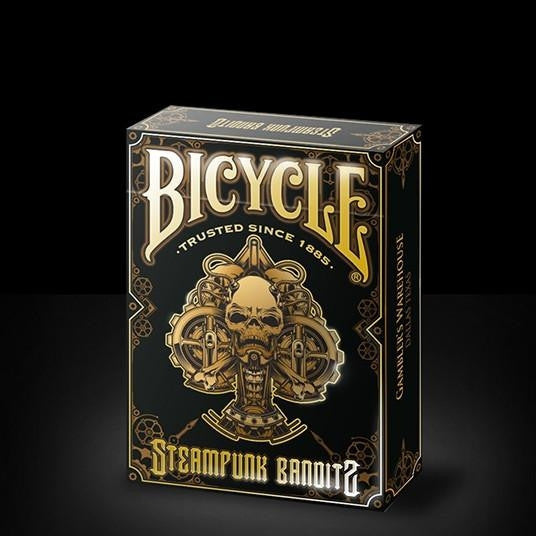 Buyworthy:Steampunk Bandits Black & Gold Embossed case Rare Poker Playing Cards Deck