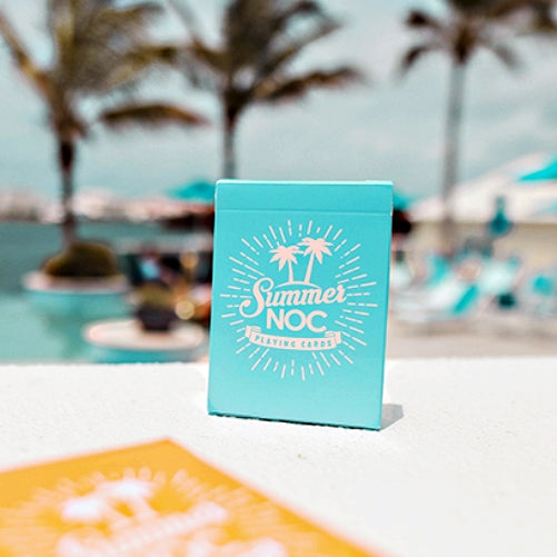 Summer NOC Playing Cards Limited Edition Beach Blue Marking system