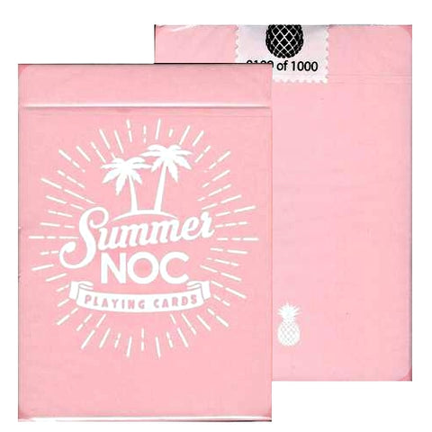 Summer NOC Playing Cards Limited Edition Pink Rare Marking system