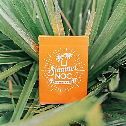 Summer NOC Playing Cards Limited Edition Orange Marking system