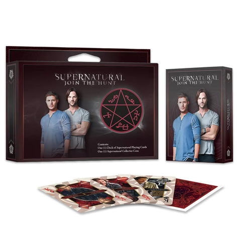 Supernatural Playing Cards Officially Licensed Collectors Set 1 Deck 1 Coin