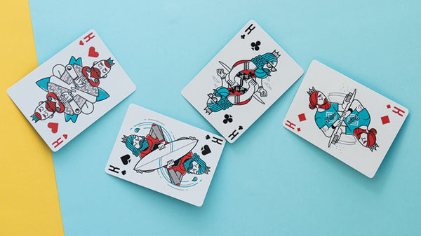Surfboard Playing Cards by Riffleshuffle Perfect Australian Beach Deck