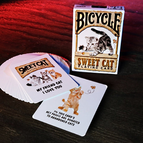Sweet Cat Playing Cards Bicycle Deck by JL Magic