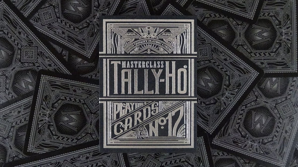 Tally-Ho Masterclass Black Playing Cards Silver Foil Sealed Edition
