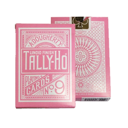 Pink Tally Ho Playing Cards Reverse Circle back Limited Edition