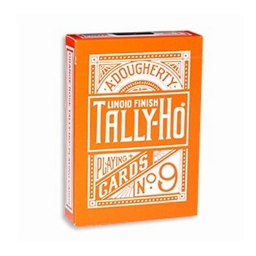 Tally-Ho Playing Cards Reverse Tally Ho Fan back Orange Limited Edition