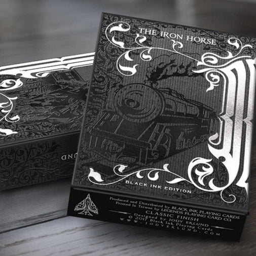 The Iron Horse Playing Cards Black Ink Edition Wild West