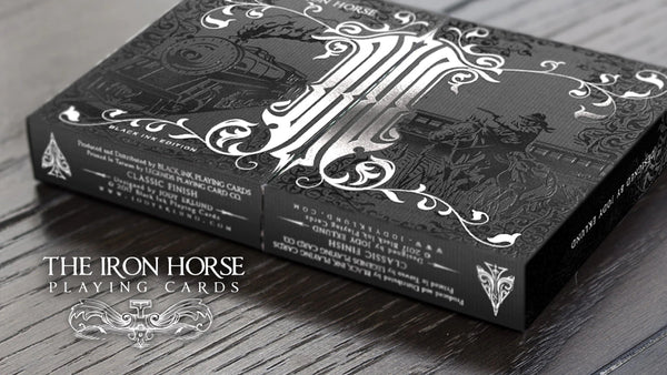 The Iron Horse Playing Cards Black Ink Edition ~ 2 Decks set