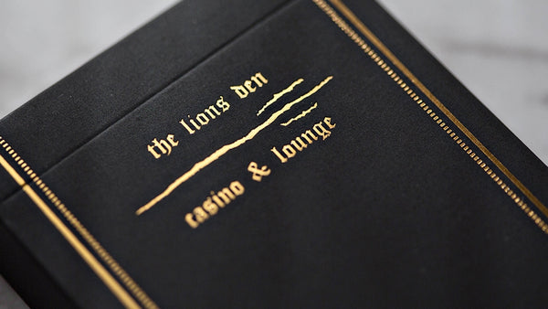 The Lions Den Playing Cards Rare Casino & Lounge by Daniel Madison Ellusionist
