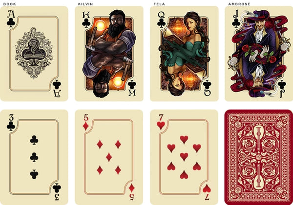 The Name of the Wind Playing Cards Selas Original Edition